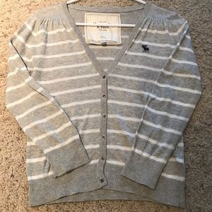 Womens Abercrombie Fitch Cropped Striped Sweater M